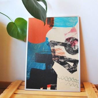 formwiese »Spielwiese« (nachhaltiges A3 Poster, Graspapier, abstrakt)