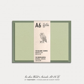 Feingeladen / Eco Love FOREST ANIMALS Notecard Set No 13 / A6