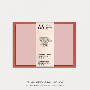 Feingeladen / Eco Love FOREST ANIMALS Notecard Set No 14 / A6