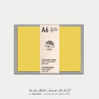 Feingeladen / Eco Love FOREST ANIMALS Notecard Set No 15 / A6