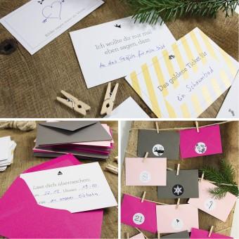 Bow & Hummingbird Adventskalender Pink/Graphit