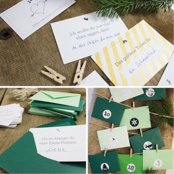 Bow & Hummingbird Adventskalender Tannengrün