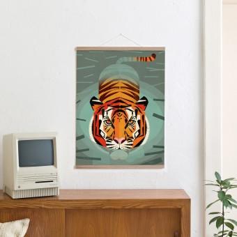 KLEINWAREN / VON LAUFENBERG Set / Swimming Tiger + Magnetische Posterleiste 50 cm