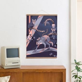 KLEINWAREN / VON LAUFENBERG Set / Katta + Magnetische Posterleiste Eiche 50 cm