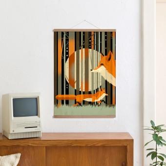 KLEINWAREN / VON LAUFENBERG Set / Midnight Foxes + Magnetische Posterleiste Eiche 50 cm