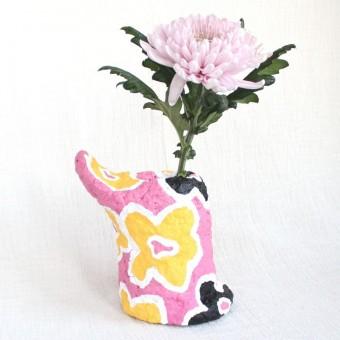 Catchup Studios - nachhaltige Papiervase - Flower Power Vase