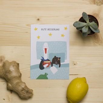"""HEJ Marlen Postkarte """"Gute Besserung"""""""