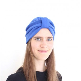 Zitat Turban Beanie Bright Blue