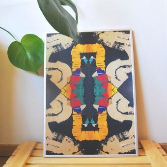 formwiese »Mosaik Nr.2« (nachhaltiges A3 Poster, Graspapier, abstrakt)