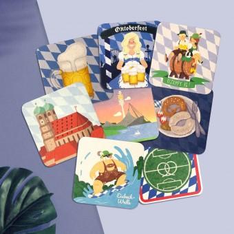 Stadtliebe® | München Bierdeckel-Postkarten im 8er Set | verschiedene Motive