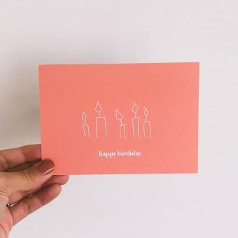 Designst - Postkarte happy birthday