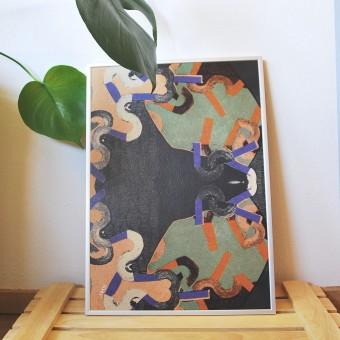 formwiese - »Wiesenhang« (A3 Poster, Graspapier, abstrakt)