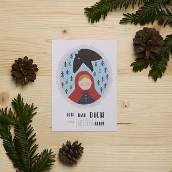 """HEJ Marlen Postkarte """"Rotkäppchen"""""""