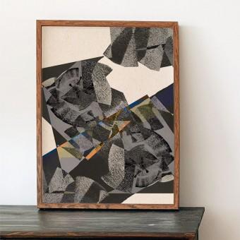 formwiese - »Wellenreiter« (A3 Poster, Graspapier, abstrakt)