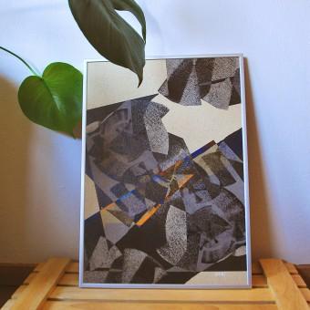 formwiese »Wellenreiter« (nachhaltiges A3 Poster, Graspapier, abstrakt)