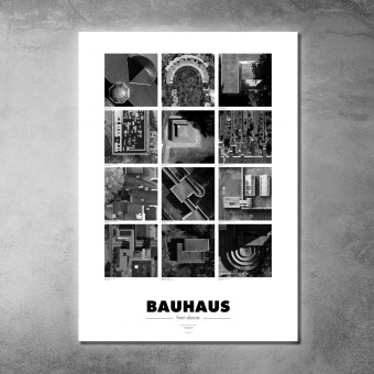 BAUHAUS Poster - from above DIN A1