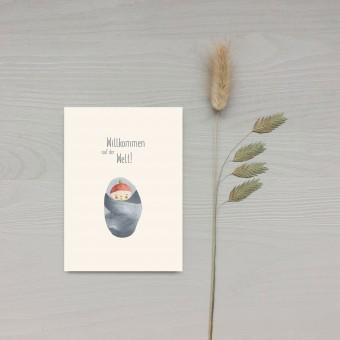 Karte A6 – Willkommen Baby - Elliet