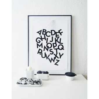"""Held&Lykke ABC-Poster """"ABCircus black"""" (DIN A2)"""