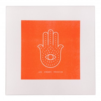 Feingeladen // SIMPLY DIVINE // Hamsa Hand »Luck Strength Protection« (FO), RISO-Kunstdruck, 30 x 30 cm