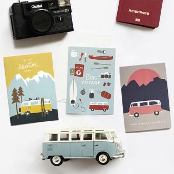Roadtyping Set Abenteuerlust | 3x Klappkarte A6 inkl. Kuverts