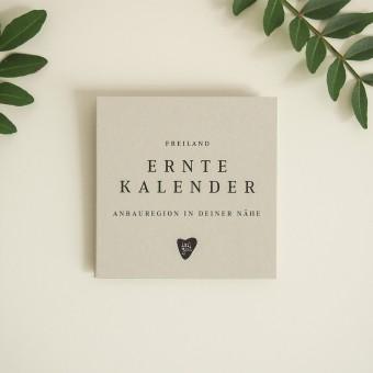 Freiland Erntekalender (9x9cm)  Saisonkalender & Einkaufshilfe von issgut