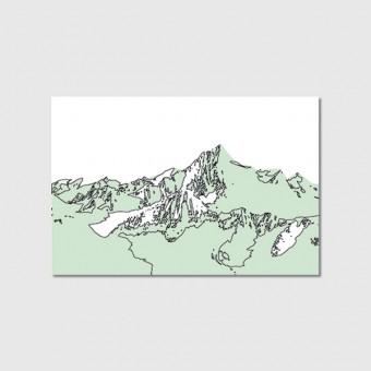 """ZEITLOOPS """"Alpen"""", Poster ca. A4 / A3"""