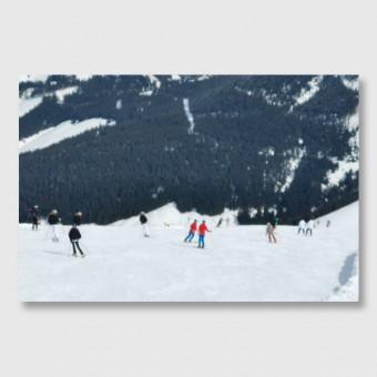 "ZEITLOOPS ""Alpen Skifahrer"", Posterprint, 40x60 cm"