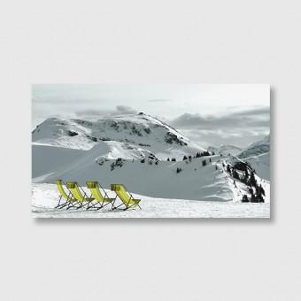 """ZEITLOOPS """"Alpen mit Aussicht"""", Posterprint 27x48 cm"""