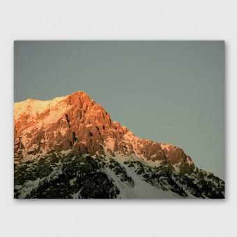 "ZEITLOOPS ""Alpen mit Flugzeug"", Posterprint, ca. A4 / A3"