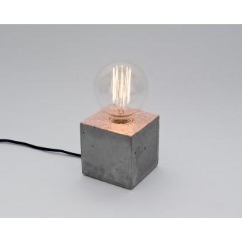 LJ LAMPS alpha kupfer - verkupferteTischleuchte aus Beton mit Textilkabel