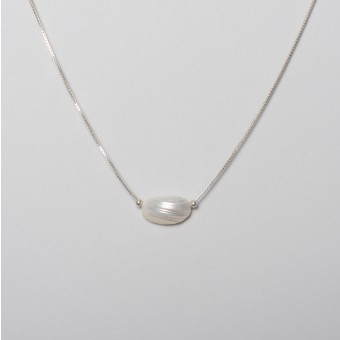 "Teresa Gruber Kette ""Mother of pearl- Shell"", 925 Silber"