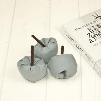 hasenkinder - Stoffapfel grau 3er Set - Spielzeug & Deko
