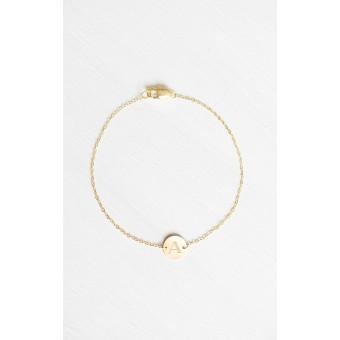 Oh Bracelet Berlin - Armband »Initial Letter« inklusive umweltfreundlicher Geschenkbox | Farbe Gold | Länge 16,5 cm