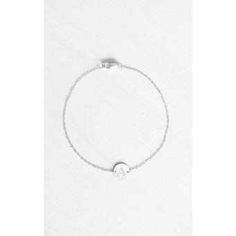 Oh Bracelet Berlin - Armband »Initial Letter« inklusive umweltfreundlicher Geschenkbox | Farbe Silber | Länge 19,0 cm