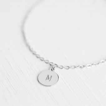 Oh Bracelet Berlin – Handgeprägte Armkette »Letter« weißvergoldet mit Buchstabe inkl. Box