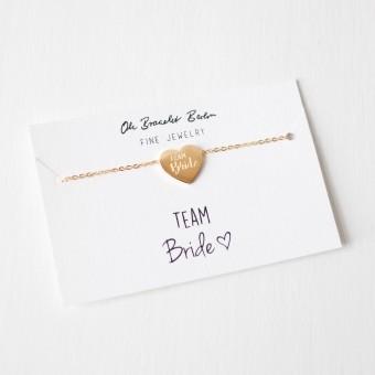 Oh Bracelet Berlin – Team Bride Armband aus Edelstahl, vergoldet