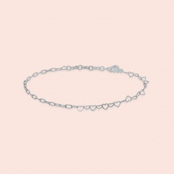 related by objects - just hearts bracelet - 925 Sterlingsilber weiß rhodiniert