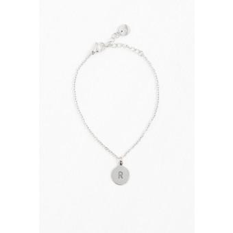 Oh Bracelet Berlin - Armkette »Letter« mit Wunschbuchstabe | handgeprägt | Farbe Silber