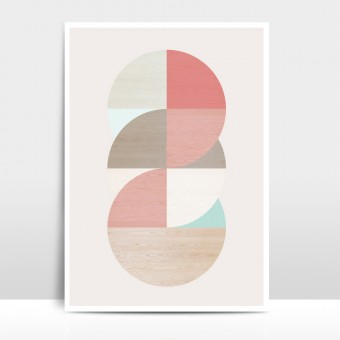 "Amy & Kurt Berlin A3 Artprint ""Wooden Circles"""
