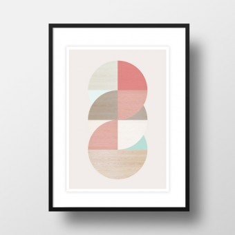 "Amy & Kurt Berlin A4 Artprint ""Wooden circles"""