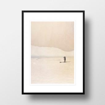 """Amy & Kurt Berlin A4 Artprint """"Stand up Paddler"""""""