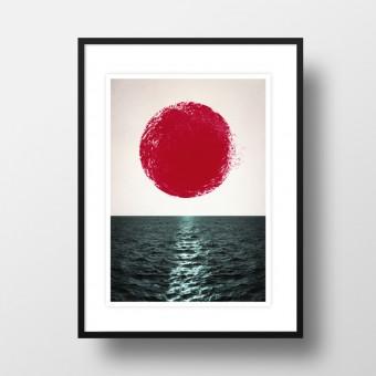 """Amy & Kurt Berlin A4 Artprint """"Sunset"""""""