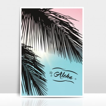 "Amy & Kurt Berlin A4 Artprint ""Aloha"""