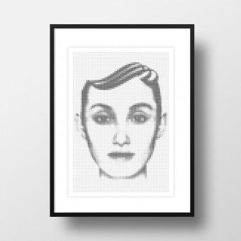 """Amy & Kurt Berlin A4 Artprint """"Amy"""""""