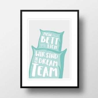 """Amy & Kurt Berlin A4 Artprint """"Dreamteam"""""""