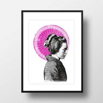 """Amy & Kurt Berlin A4 Artprint """"Geisha"""""""