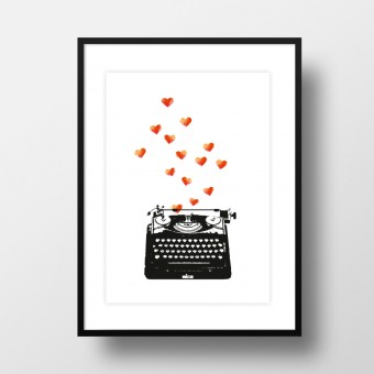 "Amy & Kurt Berlin A4 Artprint ""Loveletter"""
