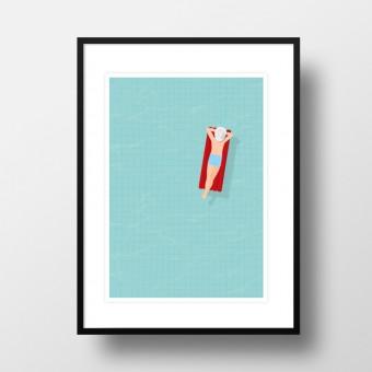 """Amy & Kurt Berlin A4 Artprint """"Luftmatratze"""""""