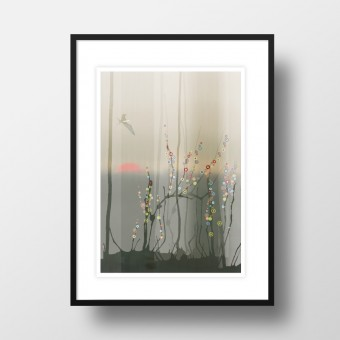 "Amy & Kurt Berlin A4 Artprint ""Magic Forest"""