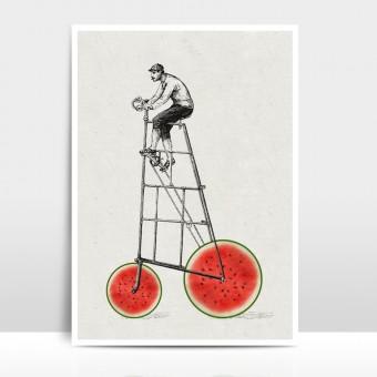 """Amy & Kurt Berlin A3 Artprint """"Melonenradler"""""""